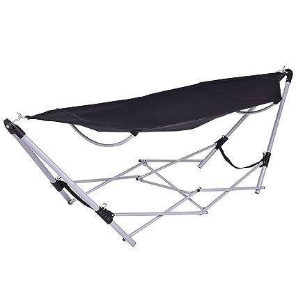 Amazon.com : GJH One Hammock Stand Portable Folding Beach Lounge ...