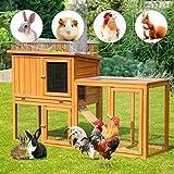 U-MAX Rabbit Hutch 54.3 inch Large Chicken Coop