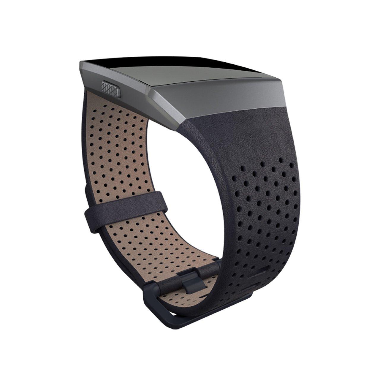 Fitbit Ionic Pulsera de Cuero, Unisex Adulto, Midnight Blue, Large: Fitbit: Amazon.es: Deportes y aire libre