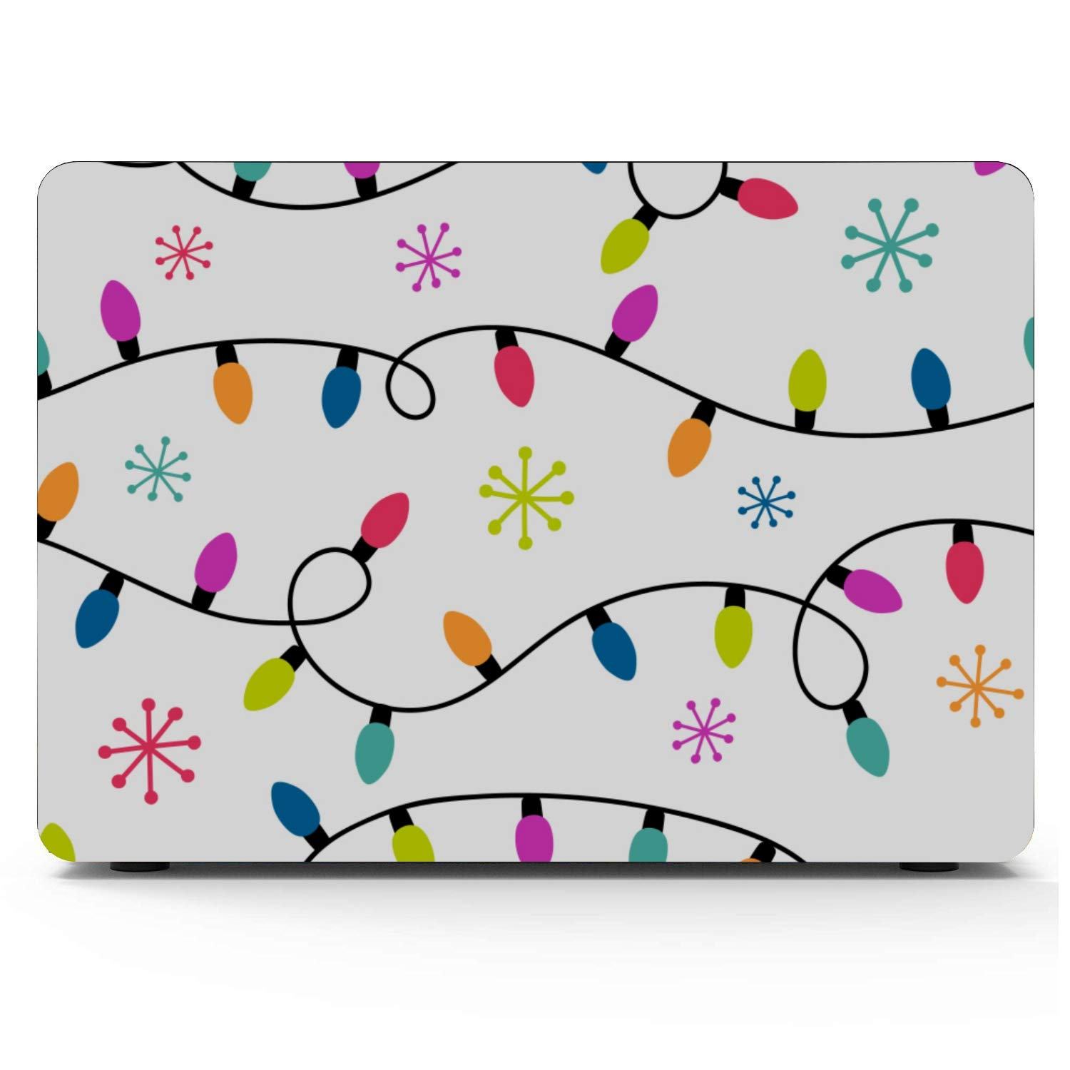 Mac Book Pro Case Colorful Christmas Light Garland Plastic Hard Shell Compatible Mac Air 11 Pro 13 15 Cover for Laptop Protection for MacBook 2016-2019 Version