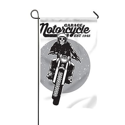 Amazon com : Vintage Skull Riding Motorcycle Fade Resistant