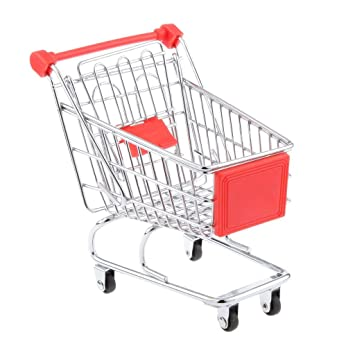Fengh Lovely Mini carrito de la compra supermercado carrito con asiento carrito ruedas (rojo): Amazon.es: Hogar