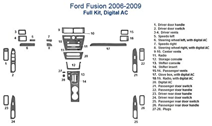 Amazon Ford Fusion Full Dash Trim Kit Digital Ac Harvest. Ford Fusion Full Dash Trim Kit Digital Ac Harvest Burlwood. Ford. Dooe Diagram 2006 Ford Fusion At Scoala.co
