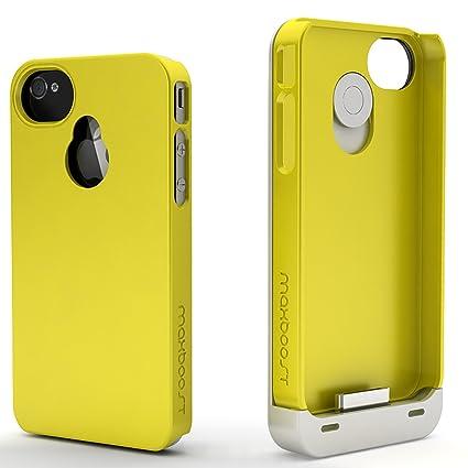 Amazon.com: maxboost Batería para iPhone 4S Caso/iPhone 4 ...
