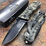 MASTER USA Army ACU Camo Skull Medallion Hunting Tactical Rescue Pocket Knife For Sale