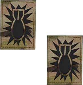 Coyote Brown Infrared EOD Explosive Ordnance Disposal Bomb Squad Tan Arid 3.5x2 Tactical Hook/&Loop Patch