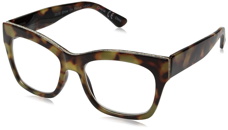 1e668e606ca Amazon.com  Peepers Women s Shine On - Blue Light Filtering Computer Glasses  2543000 Square Reading Glasses