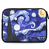 MoKo Sleeve for 7-8 Inch Amazon Tablet, Portable Neoprene Case Bag for All-New Fire HD 8 2017, Fire 7 2017, Fire 7 / Fire HD 8 Kids Edition 2017, Kindle(8th Gen, 2016), Kindle Oasis - Starry Night