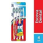 Colgate Cepillo Dental Triple Acción Mediano, 4 Piezas