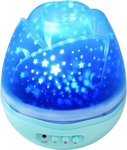 Shayson Proyector de luz Nocturna para niños con luz de Noche de ...