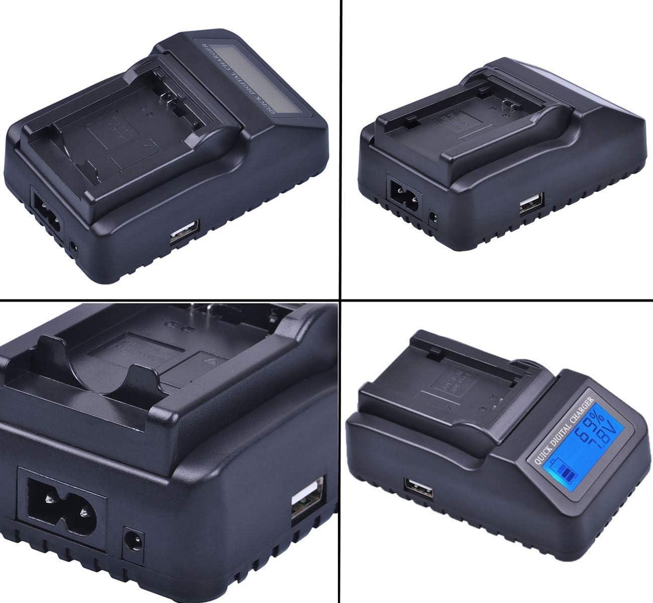 VDR-M75PP VDR-M95PP Camcorder LCD Quick Battery Charger for Panasonic VDR-M70PP