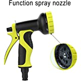 LEZCHI Garden Hose Spray Nozzle Heavy Duty Back Trigger Water Hand Sprayer with 9-Way Adjustable High Pressure Water Patterns for Watering Plants, Car Washer and Showering Pets