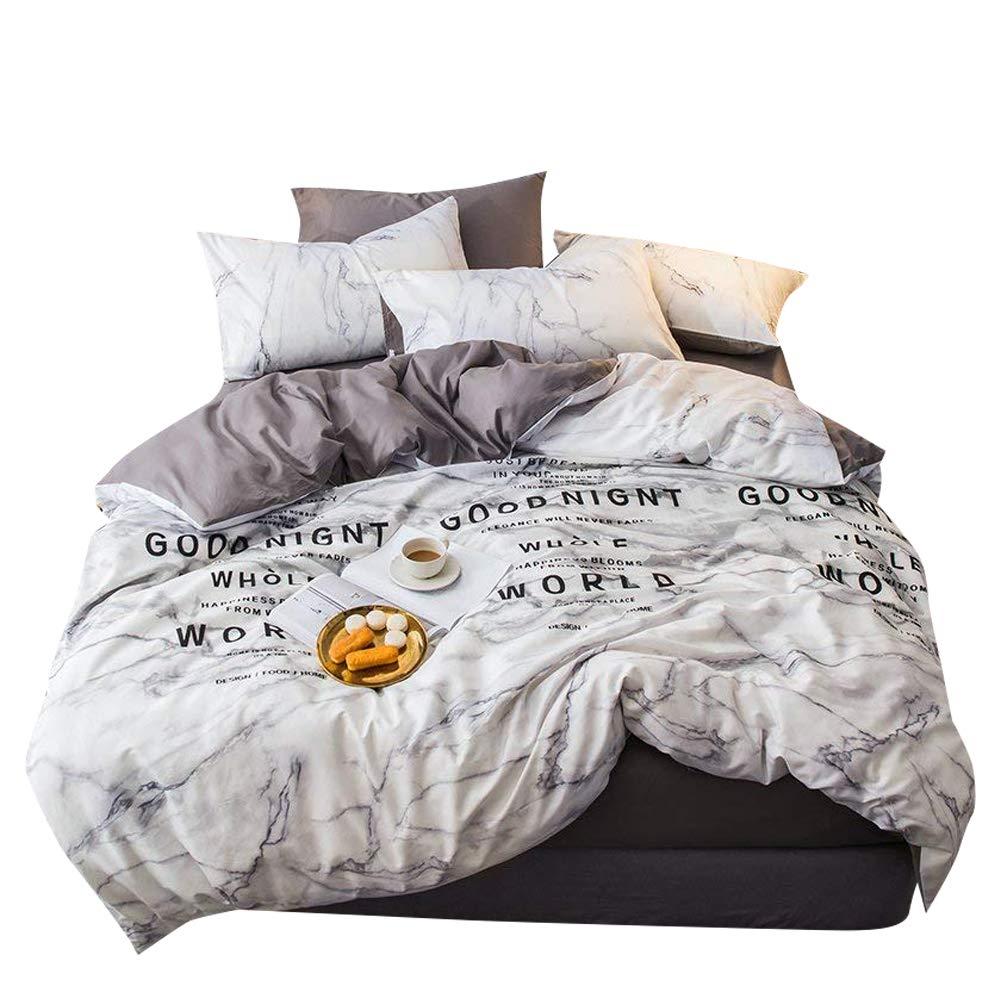 XUKEJU 3 Pieces Bedding Sets Hidden Zipper Closure With 4 Corner Ties For Teens Boys Girls 100/% Cotton Duvet Cover Set Printed Sky Universe Constellation Patterns Queen, Constellation-C ELF008ST3-Q