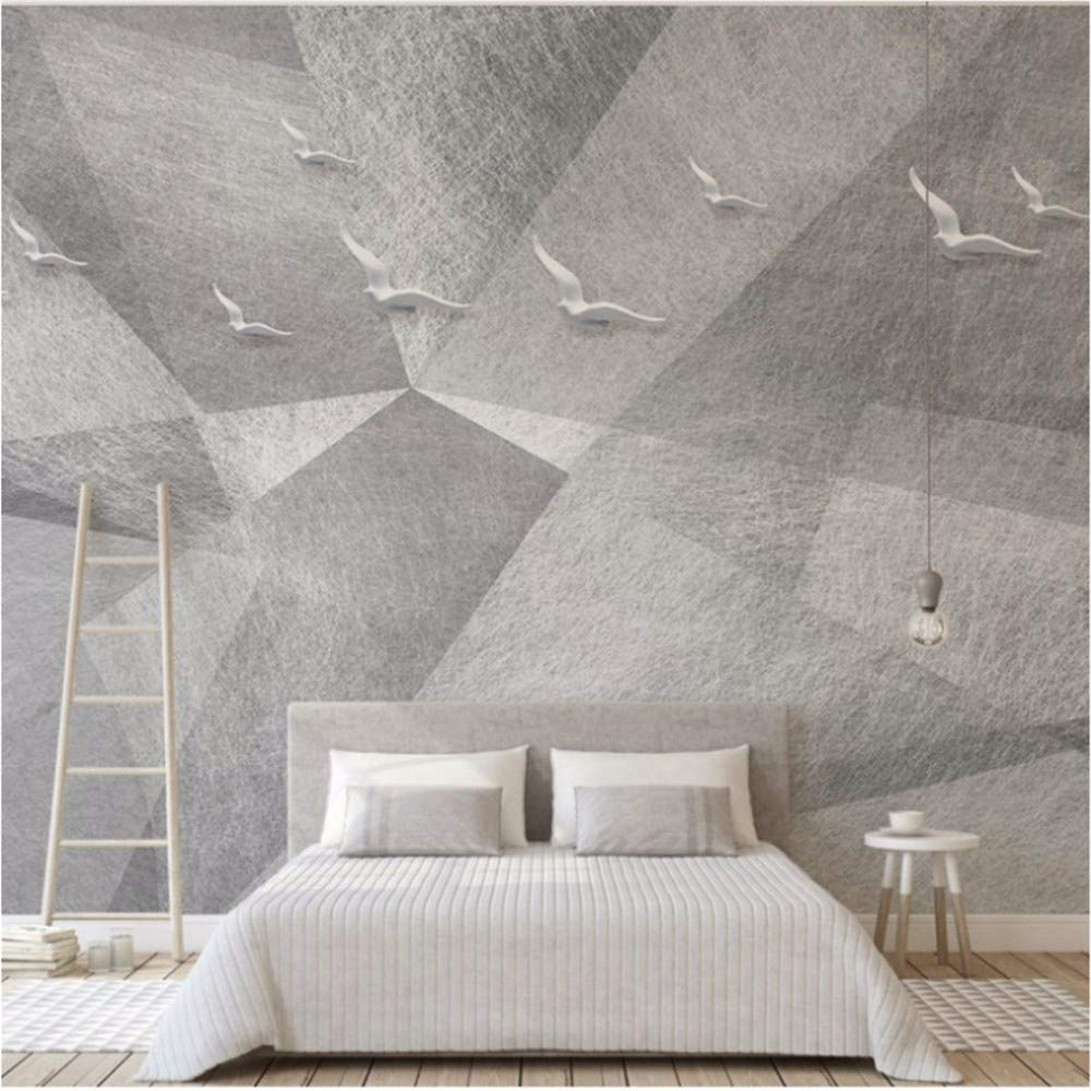 Weaeo 寝室の壁画壁画ムーミングレイエレガントな白いピジョン飛ぶ美しい壁紙  サングラス  壁画-250X175Cm B00V9KOUA6 250X175CM 250X175CM