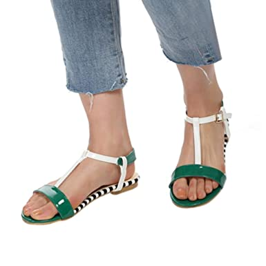 0f7097512a2 Amazon.com: TOTOD Women Shoes Women Summer Round Toe Breathable Peep ...