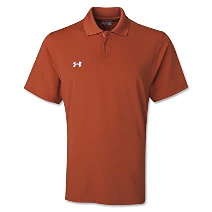 Under Armour Team Performance Polo Texas Orange/White Large mQc84EBhZm