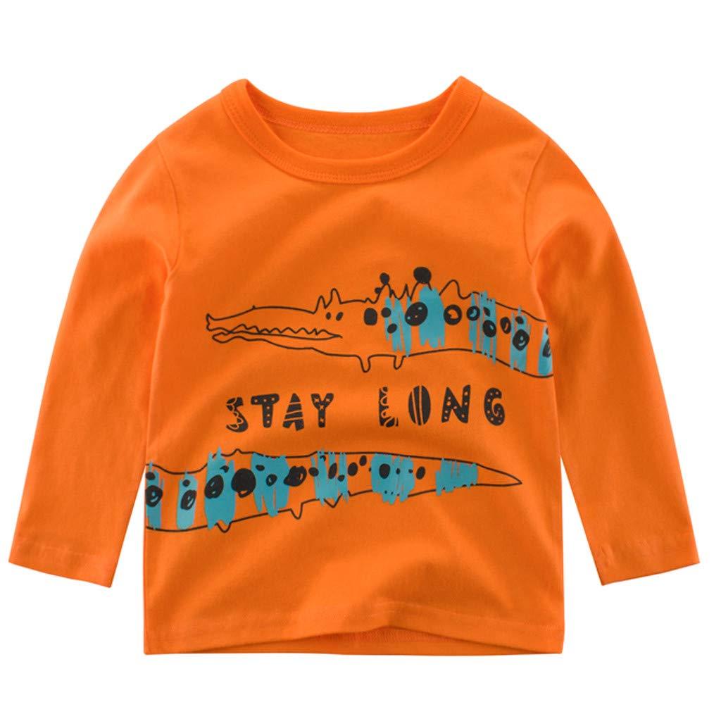 Caerling Boys Sweater Sweatshirt Top Long Sleeve Dinosaur Warm Pullover for Kids 2-7 Years