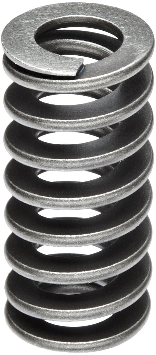 Heavy Duty Compression Spring, Chrome Silicon Steel Alloy, Inch, 0.75' OD, 0.075 x 0.165' Wire Size, 1.5' Free Length, 1.125' Compressed Length, 75lbs Load Capacity, 200lbs/in Spring Rate (Pack of 5) 0.75 OD 0.075 x 0.165 Wire Size 1.5 Free Length