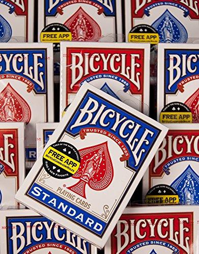 Naipes del índice estándar del tamaño del póker de la bicicleta [los colores pueden variar: rojo, azul o negro]
