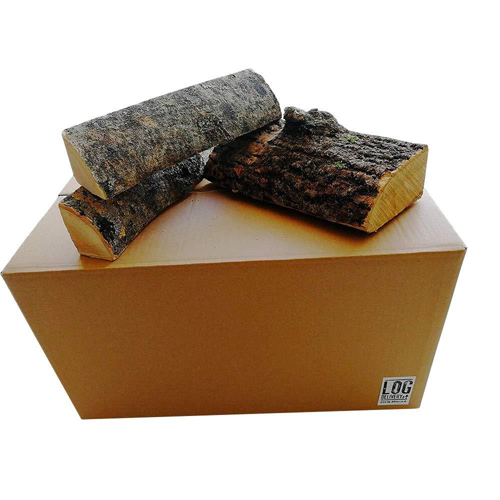 Scatola 54 litri di cenere essiccato logs-25 cm lunghezza, Best tronchi di legna da ardere, un lungo tempo di combustione –  perfetto per cottura della carne, Camp incendi, stufe e camini aperti Log-Delivery