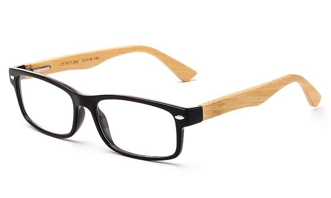 bb1331c3a Newbee Fashion - Unisex Translucent Simple Design No Logo Clear Lens Glasses