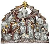 Transpac Resin Metallic Finish Nativity