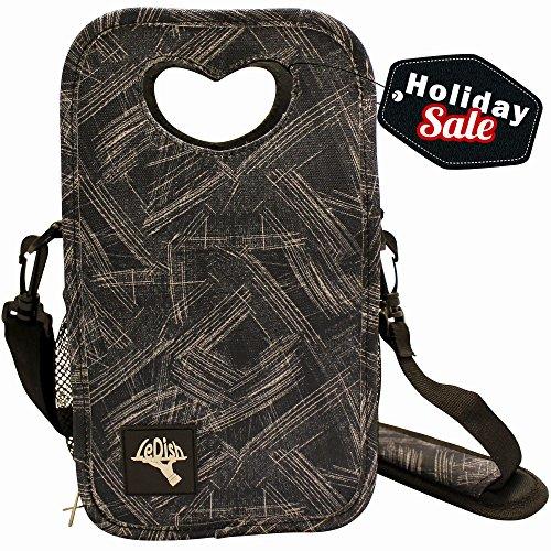 Kids Insulated Lunch Bag-Freezer Safe-Waterproof-Zip Closure-Easy Pull Zippers-Adjustable Detachable Shoulder Strap