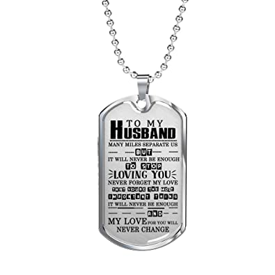 Personalized Necklace For Men Anniversary Birthday Gifts Him