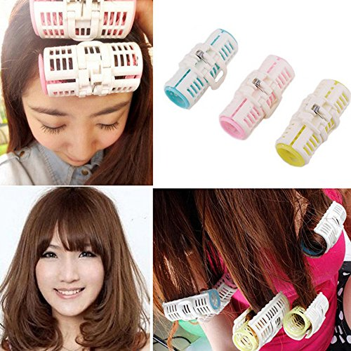 Iebeauty1 inch 3 pcs Large Hair Rollers Overnight Set Curlers Sleep In Velcro DIY Clips Hair Styling Hairdressing tool