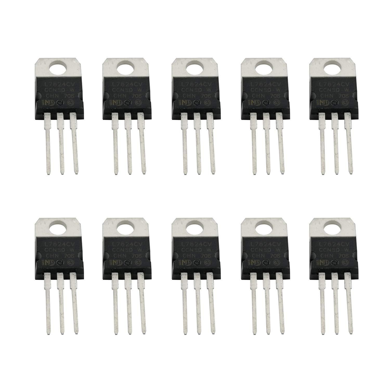 10PCS L7824CV L7824 1.5A 24V Regulador de voltaje de tres terminales Transistor TO-220