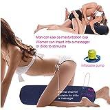 DACHMA Sex Kissen Sex Lendenkissen Zylindrisch mit Loch Mehrzweck und Aufblasbares für Massage Sticks 22x86 Zentimeter