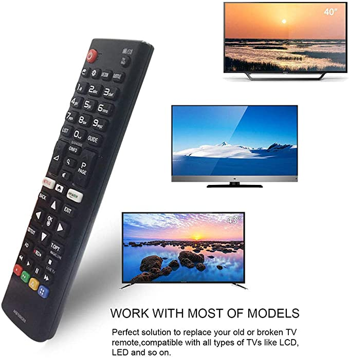 AKB75095308 reemplazado Mandos a Distancia para LG Smart TV LCD 3D -No se Requiere configuración Televisión Control Remoto Universal: Amazon.es: Electrónica