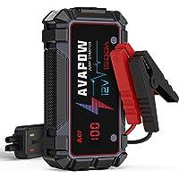 $49 » AVAPOW Jump Starter 1500A Peak Current Jumper Cables Kit for Car(Upto 12V 7L Gas…