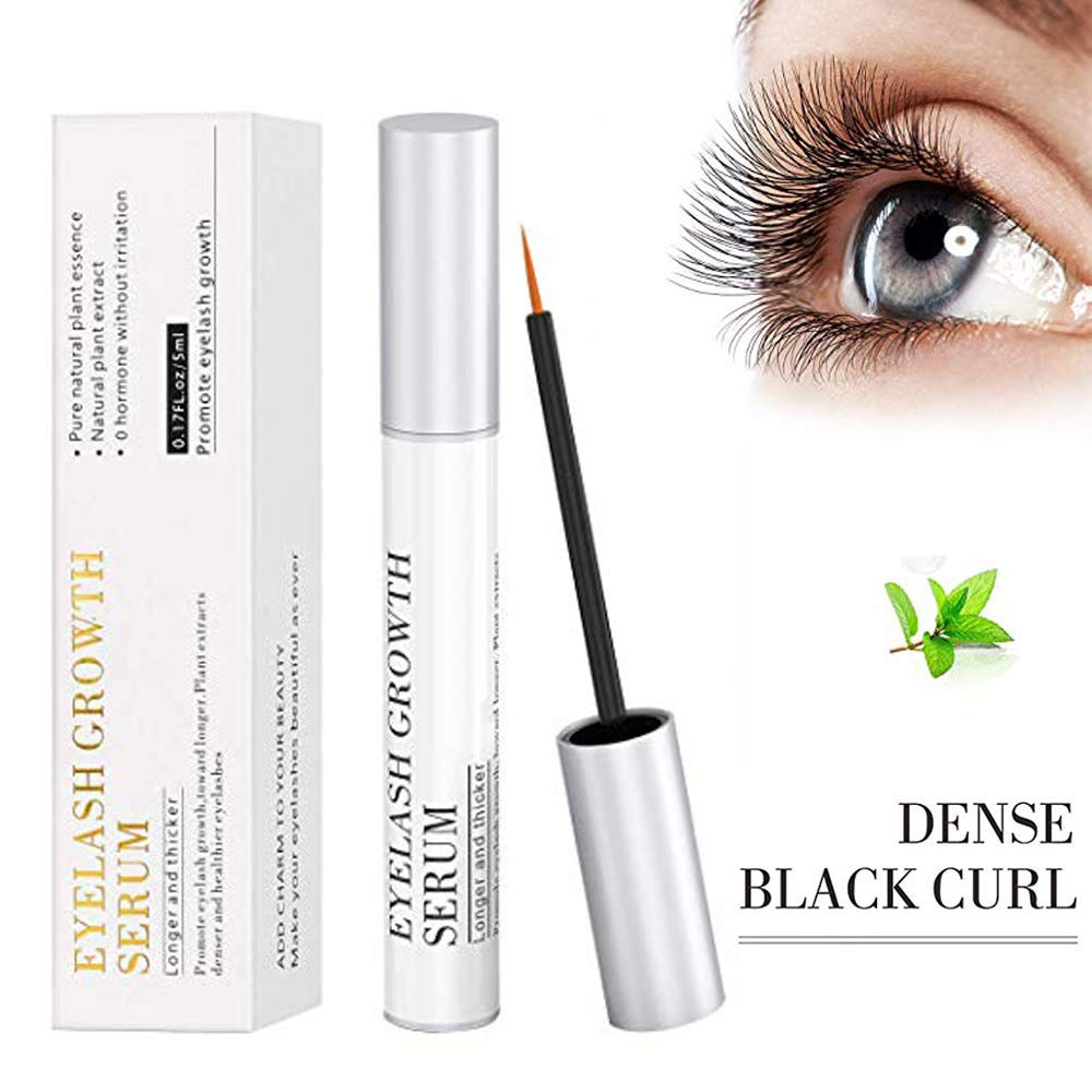 d7241227015 Amazon.com: WIYFA Eyelash Growth Serum, 100% Natural Eyelash Growth Enhancer  & Brow Serum Boost Rapid Growth to Longer, Thick Lashes and Eyebrows!(5ML):  ...