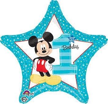 CAPRILO Lote de 4 Globos Infantiles Decorativos Foil Mickey ...