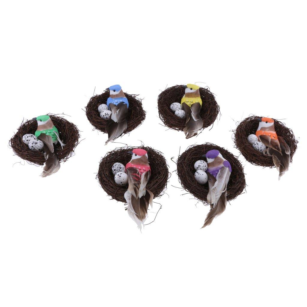 aus Schaum//Feder KESOTO K/ünstliche Vogel Bird Vogeleier mit Nest Dekovogel Gartenfigur Dekofigur f/ür Garten Balkon Baum Deko