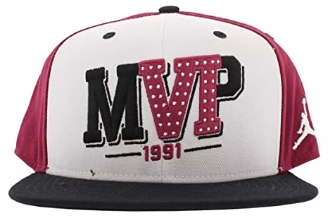 35f2daef Amazon.com: Nike Mens Air Jordan 6 VI MVP Snapback Accessories White ...