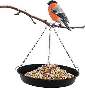 Besimple Bird Seed Catcher Tray Platform Feeder 11'' Black