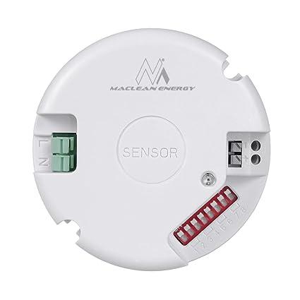 Maclean mce207 Microondas de Sensor de Movimiento con LED de crepuscular Ensor regulador Mirko Ondas Interruptor