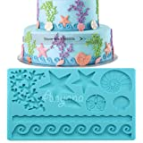 Anyana Sea Shell starfish Fondant Silicone mold Wedding Cake Mould Chocolate Decoration Tools Candy Sugarcraft cookie baking 018a