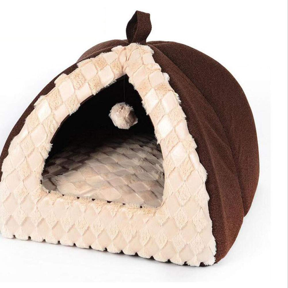 BROWN S BROWN S Pet Nest Detachable Washing Dog Nest Cat Nest Dog House Cat House Four Seasons Available (color   Brown, Size   S)