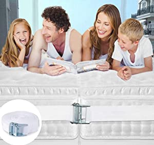 Twin Bed Connector-Twin Bed Joiner with Metal Buckle-Twin to King or Twin XL to King-width 1.5 inch & length 33 ft-Strap for Twin Beds-Bed Doubling System-Bed Mattress Connector Strap(1 rope)