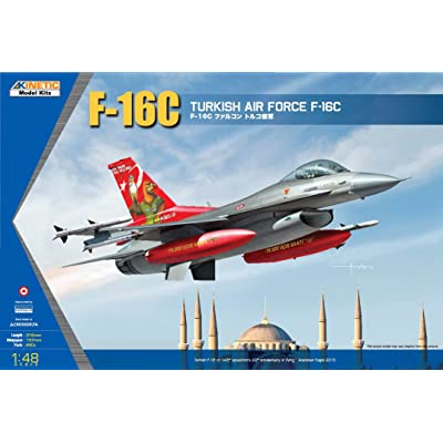 Kinetic Model Kits 1/48 Turkish Air Force F-16C K48069: Toys & Games