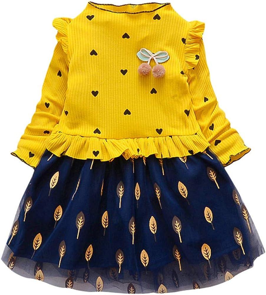 156d085b0 Baiomawzh Ropa Bebe Niña Verano 1 a 2 3 4 5-Vestidos Niñas Manga ...