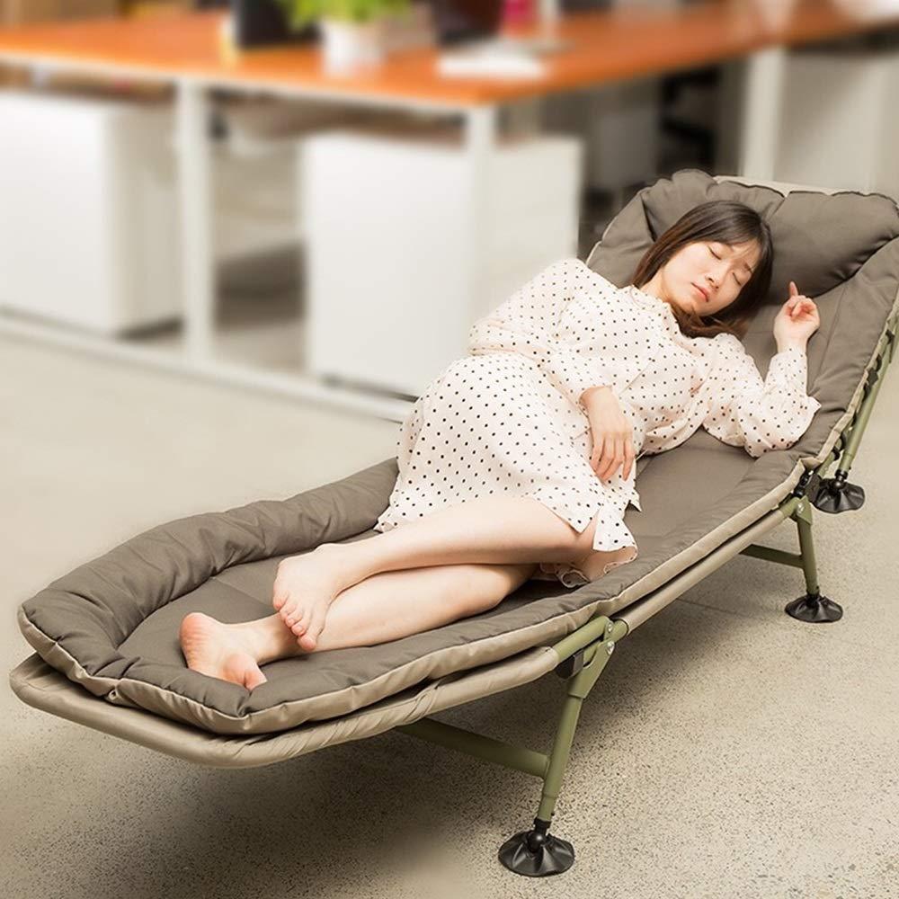 DMMW-Home Klappbett Umweltschutz Klappbett als Büro Nap-Bett mit luxuriösem Memory-Foam-Matratze und Super Strong-Rahmen (grau) Single Leisure Bed (Farbe : Grau, Größe : 200X63X27CM)