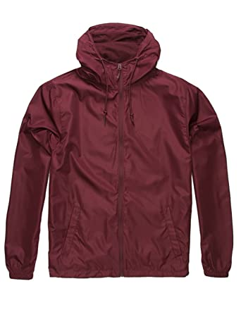 size 40 f26bd 7cf53 Independent Trading Company Lightweight Windbreaker, Burgundy, X-Small