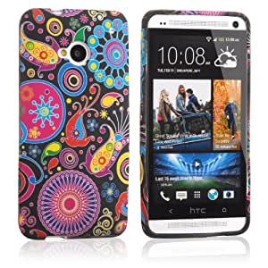New Case for HTC One M7 Lovely Colorful Soft Gel Flexible TPU Silicone Skin Cover-Jellyfish(With 2 PCS Gift Sticker)