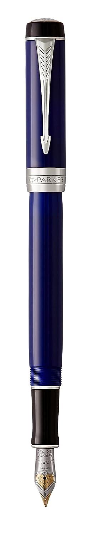 Marfil negro Parker Duofold Classic Plum/ín mediano Pluma estilogr/áfica Ivory /& Black