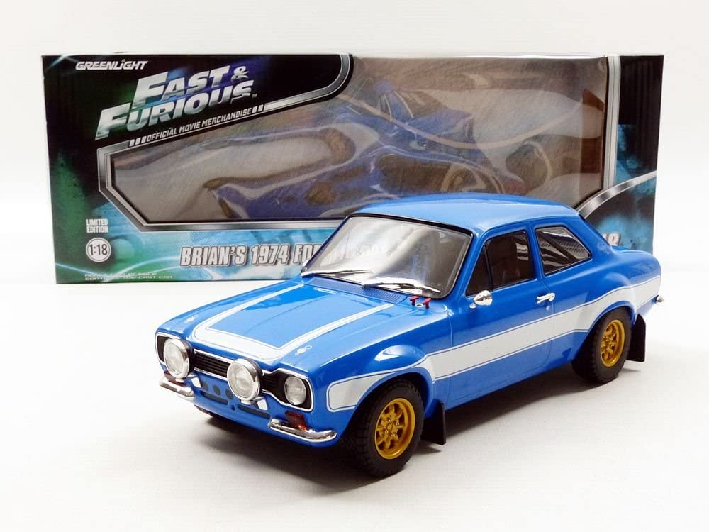 Brian/'s 1974 Escort RS2000 Mk1 FAST /& FURIOUS GREENLIGHT 1:18 Diecast Car