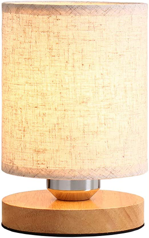 Bola de cristal de madera moderna luz de luna lámpara de mesa de ...